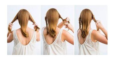 Eine elegante Fest-Frisur