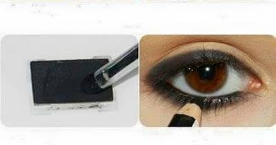 Glamouröses Augen-Make-Up