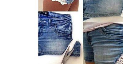 Wow, diese süße Spitzen-Shorts ganz einfach selbermachen!