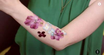Flowerpower auf der Haut!