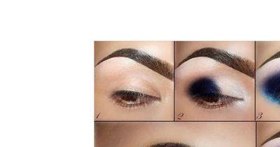 Das glitzernde Augen-Make-Up