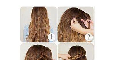 Offene Haare in wenigen Sekunden aufgepeppt