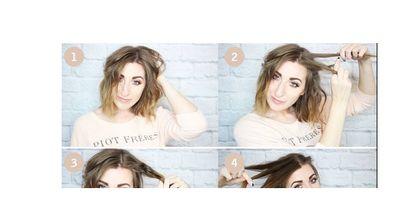 Super süße Frisur - ideal für kurze Haare geeignet