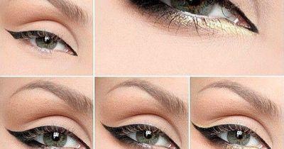 Glamouröses Augen-Make-Up in herbstlichen Tönen
