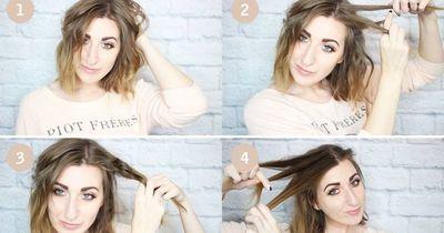 Eine festliche Frisur für kurze Haare
