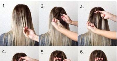 Super einfache Frisurenidee für den Alltag