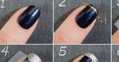 Schlichtes und elegantes Weihnachtsdesign für eure Fingernägel