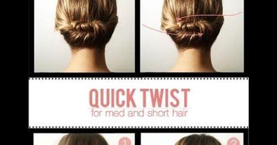 Die 1-Minute-Frisur