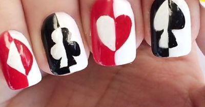 Queen of Hearts Naildesign