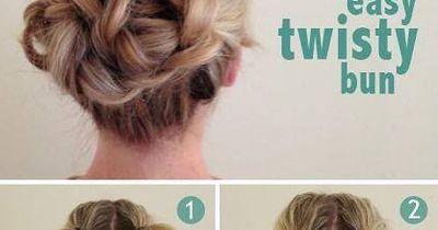 Die einfachste Hochsteckfrisur für kurze Haare!