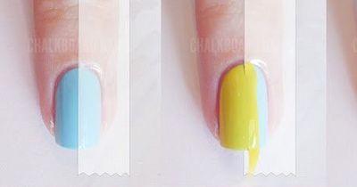 Color Blocking für die Nägel