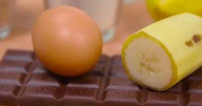 Schneller Bananen-Schoko-Tassenkuchen