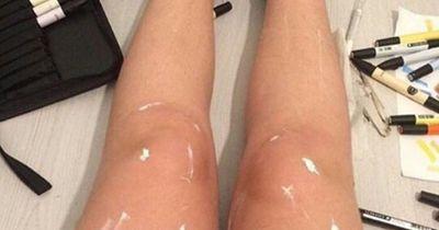 Warum glänzen die Beine so?! Dieses Foto verwirrt die ganze Internet-Gemeinde