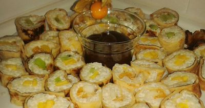 Süßes Sushi zum Selbermachen