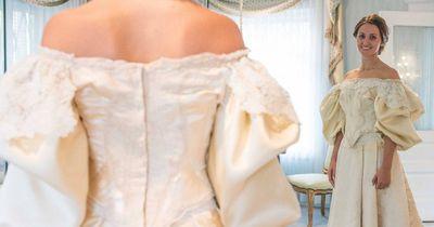 Sie ist die 11. Frau in ihrer Familie, die dieses Hochzeitskleid trägt!