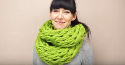 Diesen Schal können auch Leute stricken, die gar nicht stricken können!