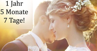 So lange dauert es noch bis zu deiner Hochzeit