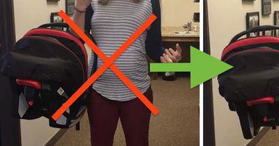 Alle machen es falsch: So trägt man Babyschalen wirklich